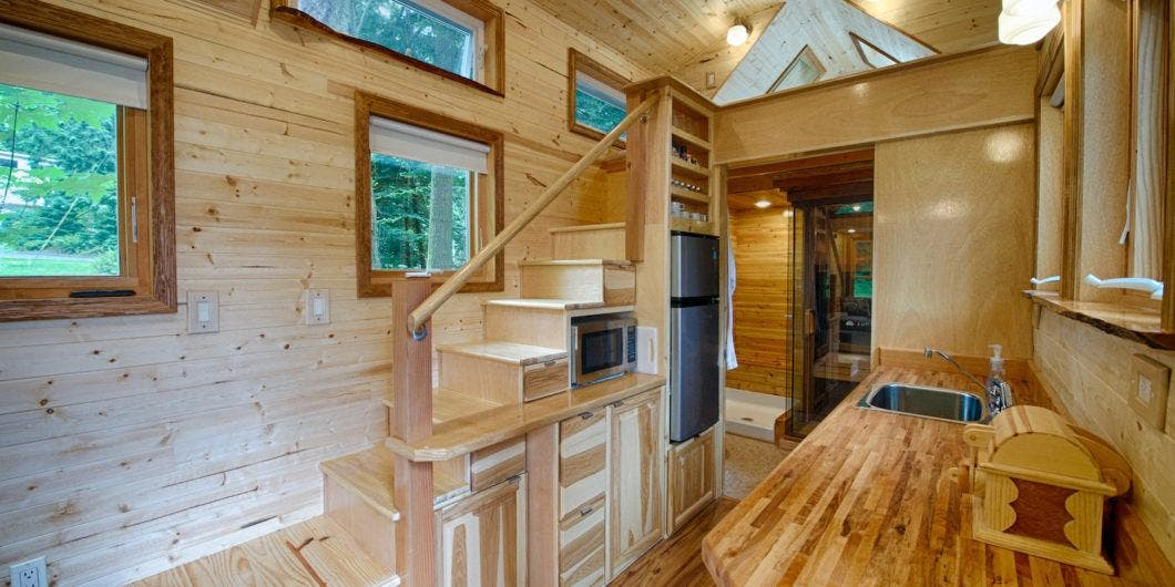 How Did Stairs Get A Rung Up On Ladders - Tiny House Blog Ladder Tiny House Designs on tiny house dining tables, tiny house beds, tiny house desks,
