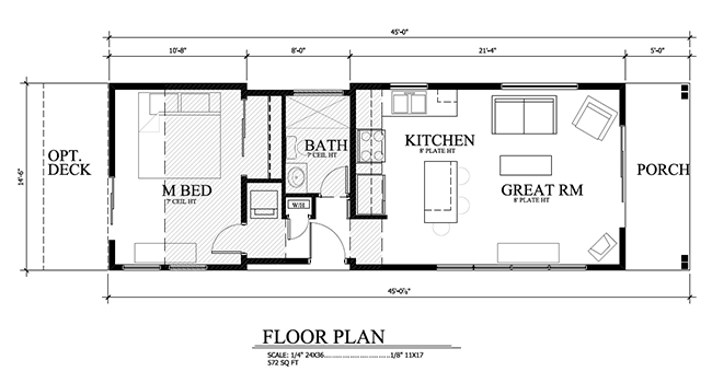 Sledhaus modular luxury in 572 square feet tiny house blog for Luxury modular home plans