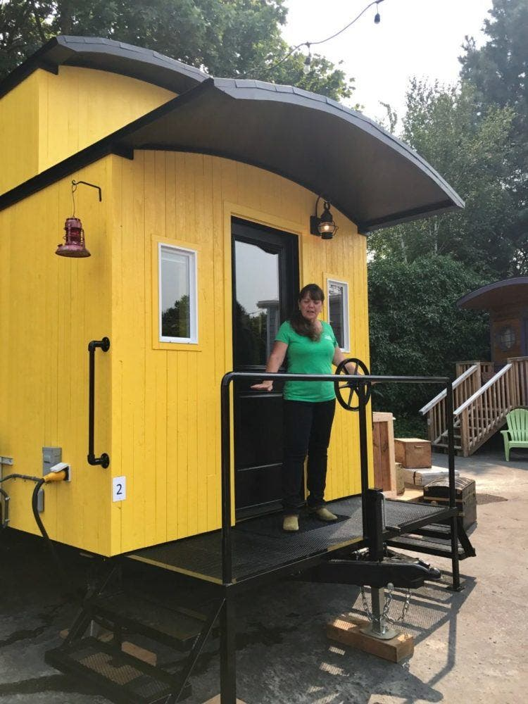 Arthur A Charming Caboose On Wheels Tiny House Blog