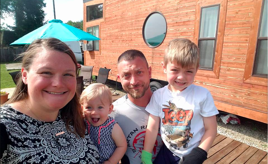 The burgers go tiny how a family of four thrives in 200 for Tiny house blog family