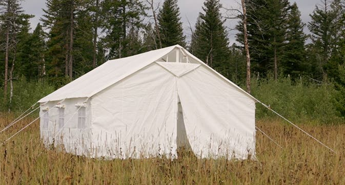 As time has marched on tents have changed. They have become smaller lighter and easier to pack. They are now nylon or some other synthetic material and ... & Pulling The Flap Back On Wall Tents - Tiny House Blog