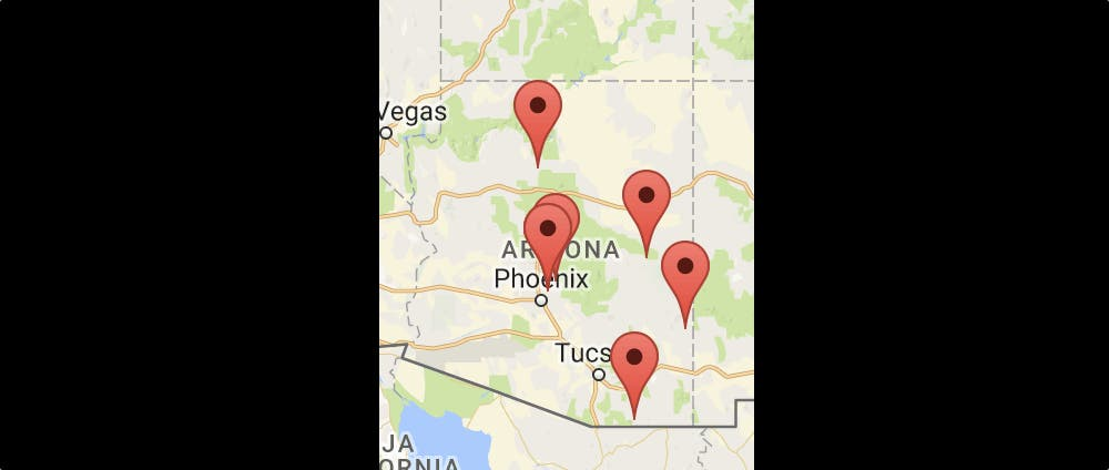 Map Of Just Arizona.Just Park It Arizona Tiny House Blog