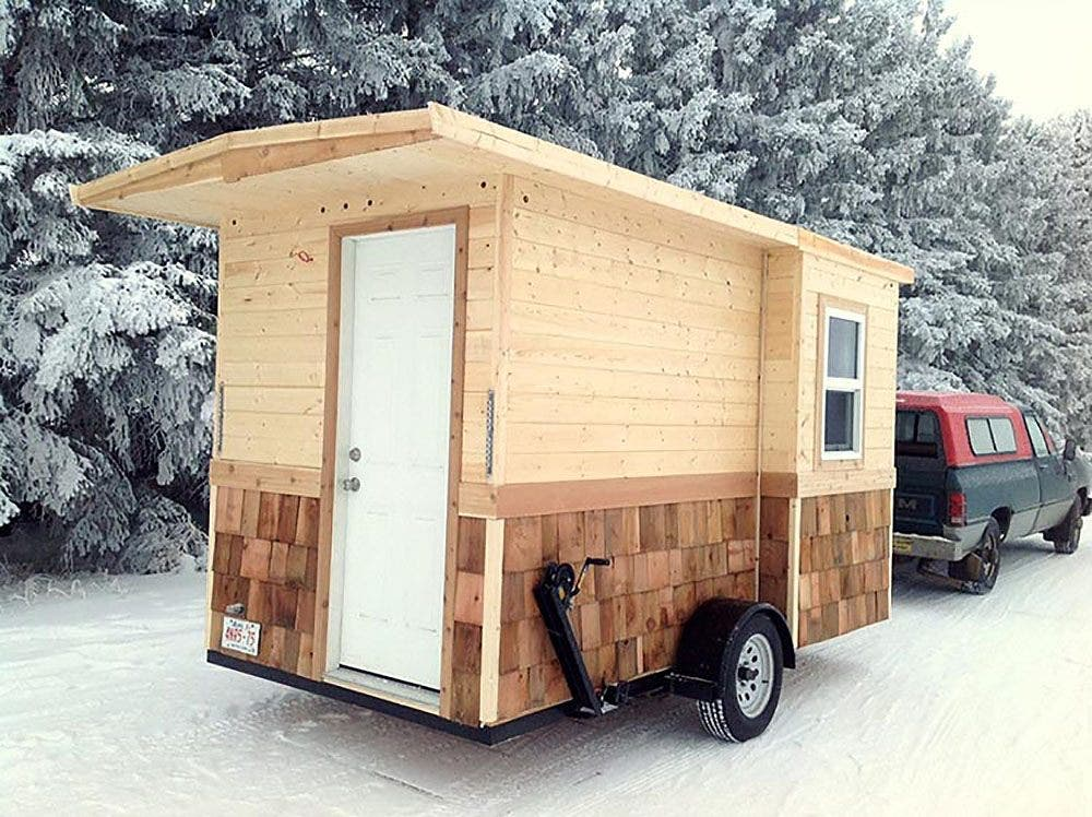 Ice shanty: An original tiny house - Tiny House Blog on ice melt for roofs, ice house restaurant, ice house seats, damning roof, ice house security, ice house windows, ice house interior, ice house flooring, ice house heat, ice house house, ice house frame, ice house cab, ice house floor, ice house rooftop, ice house exterior, ice house lighting, ice house paint, ice house building, ice house insulation,