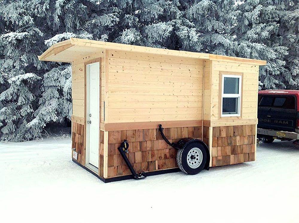 Ice fishing shanty an original tiny house tiny house blog for Ice fishing shanty for sale