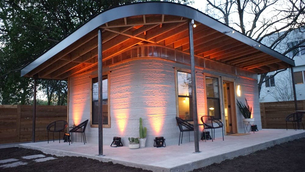 Technology Startup ICON Is The Brainchild Behind The New Story, A 650  Square Foot Tiny House. Printed With A Large 3D Printer, Called The Vulcan,  ...
