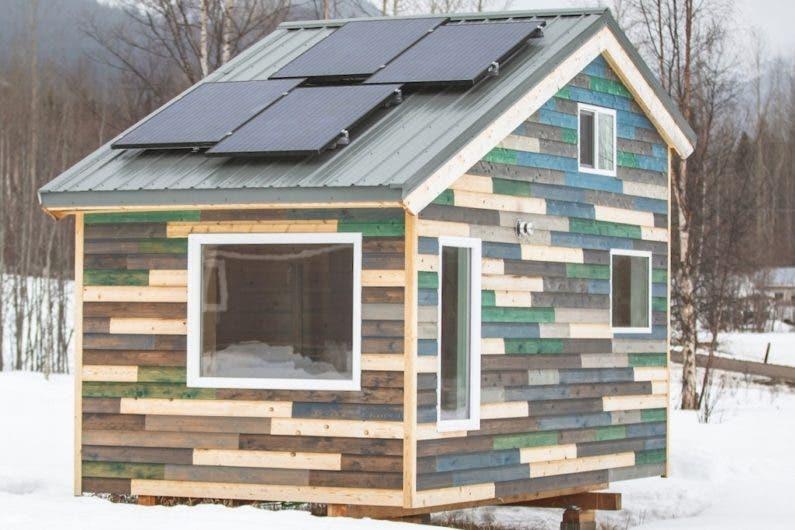 The Blue House an Offgrid MicroHouse Tiny House Blog