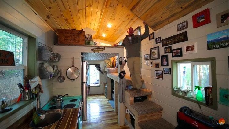 Fly Fisherman's DIY Tiny House Built with Recycled Materials