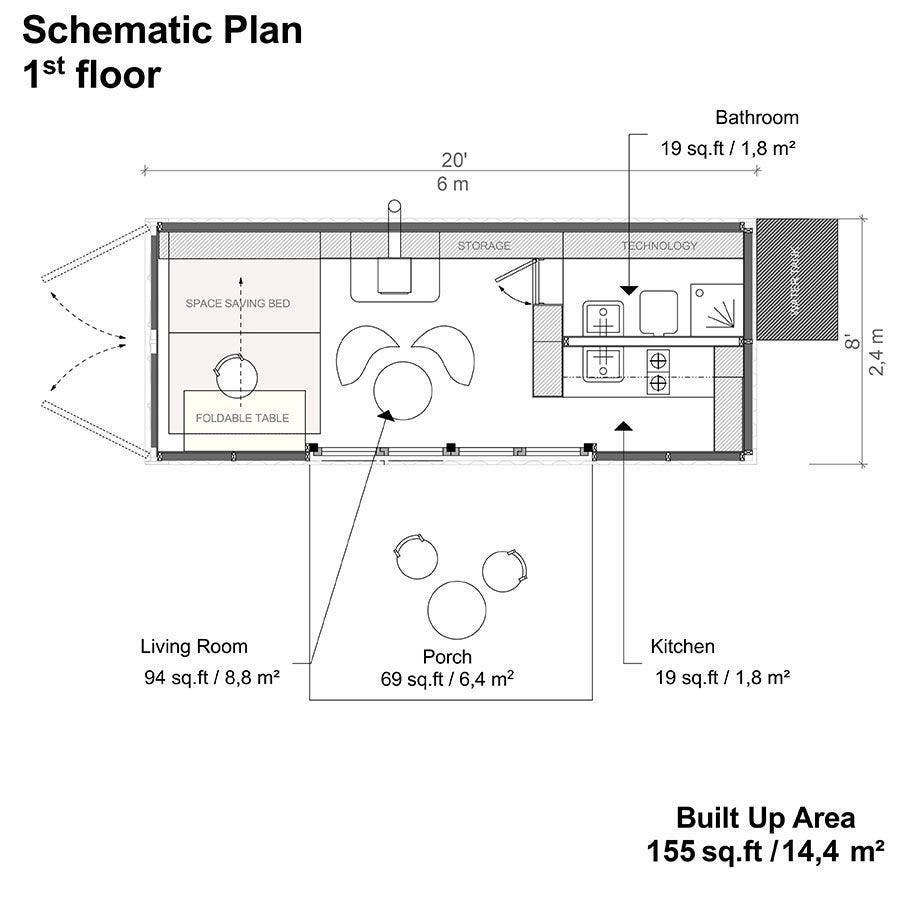 shipping-container-DIY-cabin-floor-plans-1 - Tiny House Blog
