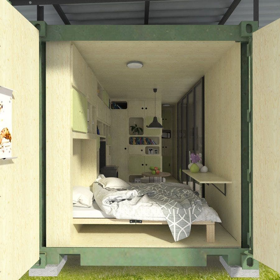 shipping-container-DIY-cabin-floor-plans - Tiny House Blog