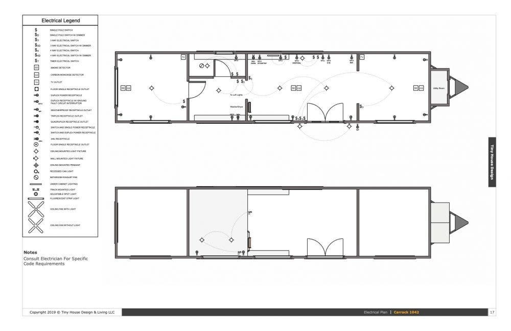 Tiny House Designs 10×42 Tiny House Plans the Carrack - Tiny House on double wide addition plans, 40' wide home plans, wide shaped homes plans, wide mobile homes, wide building,