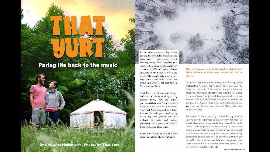 That Yurt - Living in a yurt full time