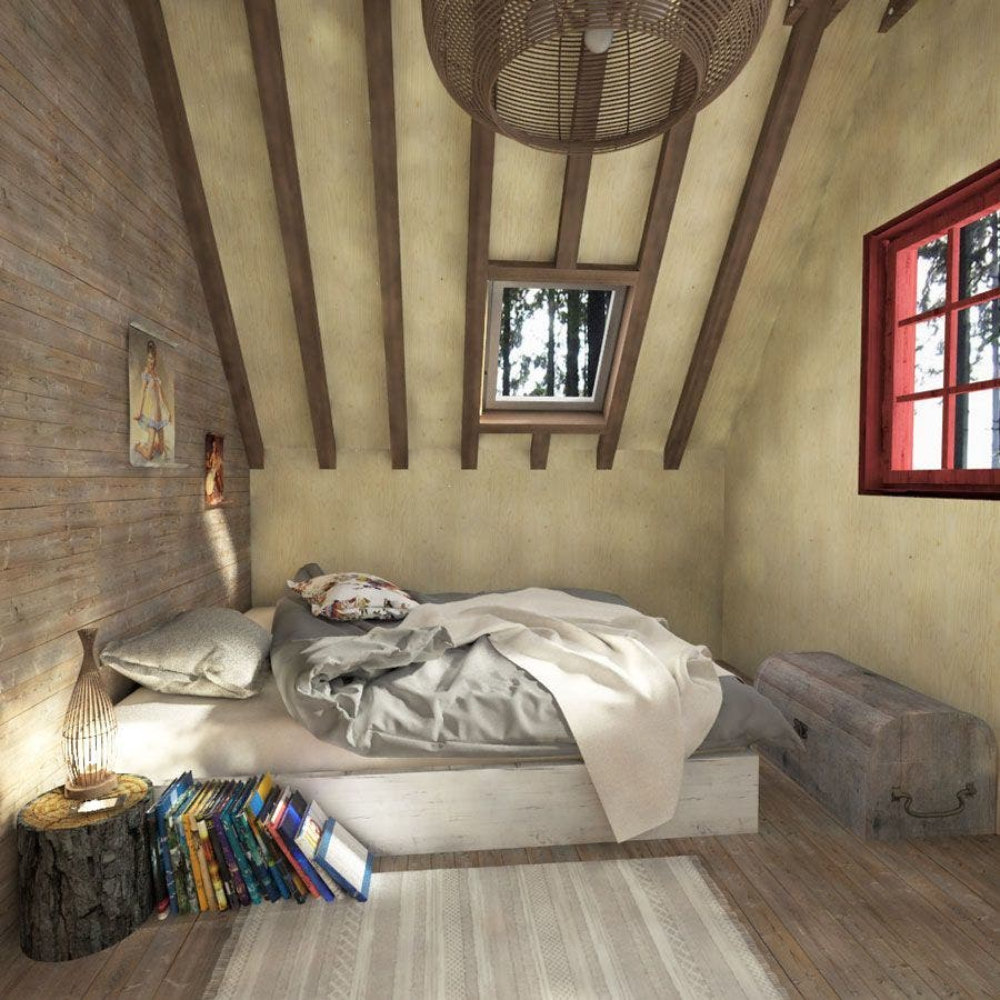 small-house-plans-loft-bedroom-space - Tiny House Blog