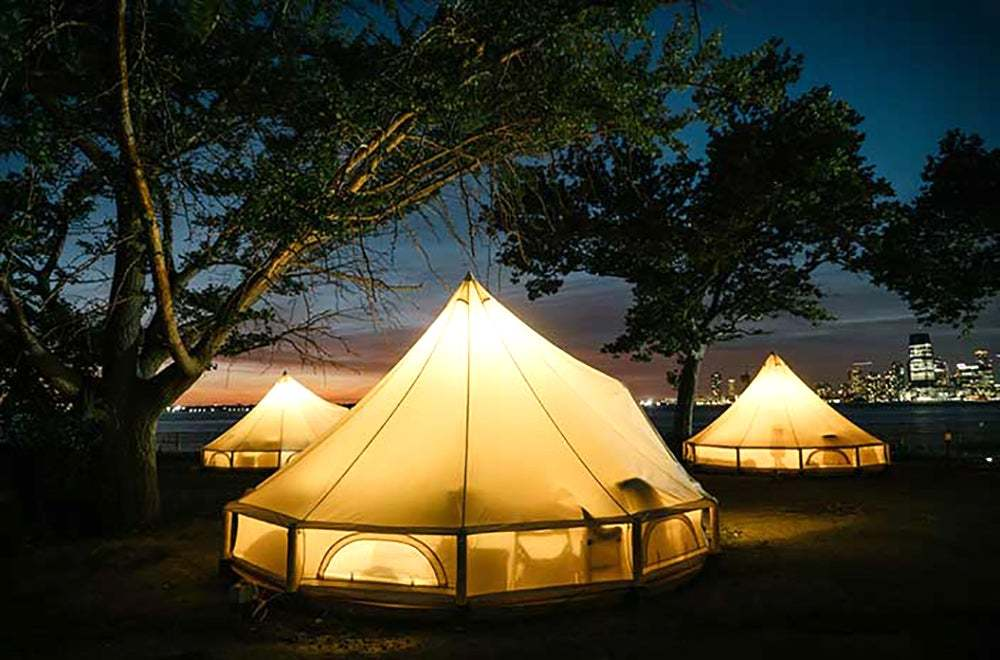 Luxury Tents And Shelters A Ferry Ride From Manhattan