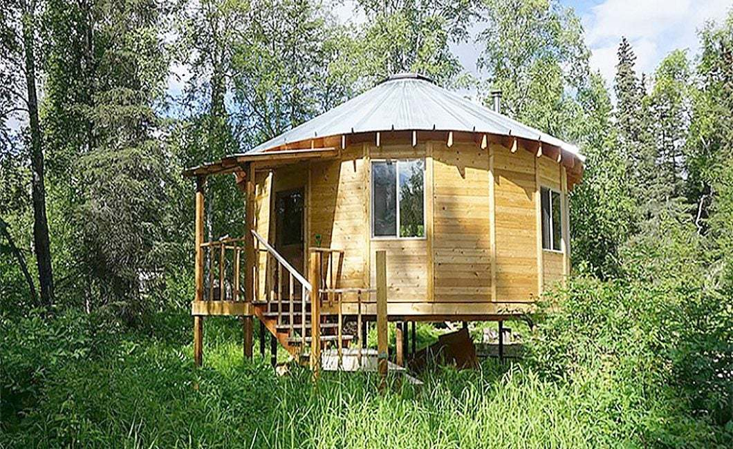 Yert House : Incredible fastest yurt house construction method, amazing intelligent wooden house building process cre: