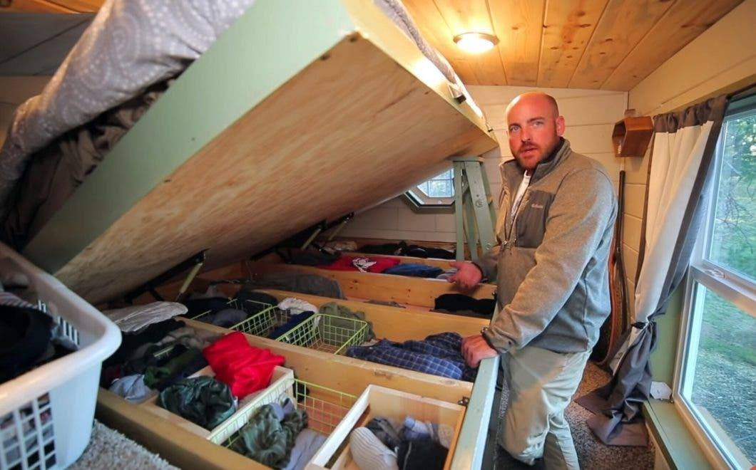 tiny house clothing storage ideas