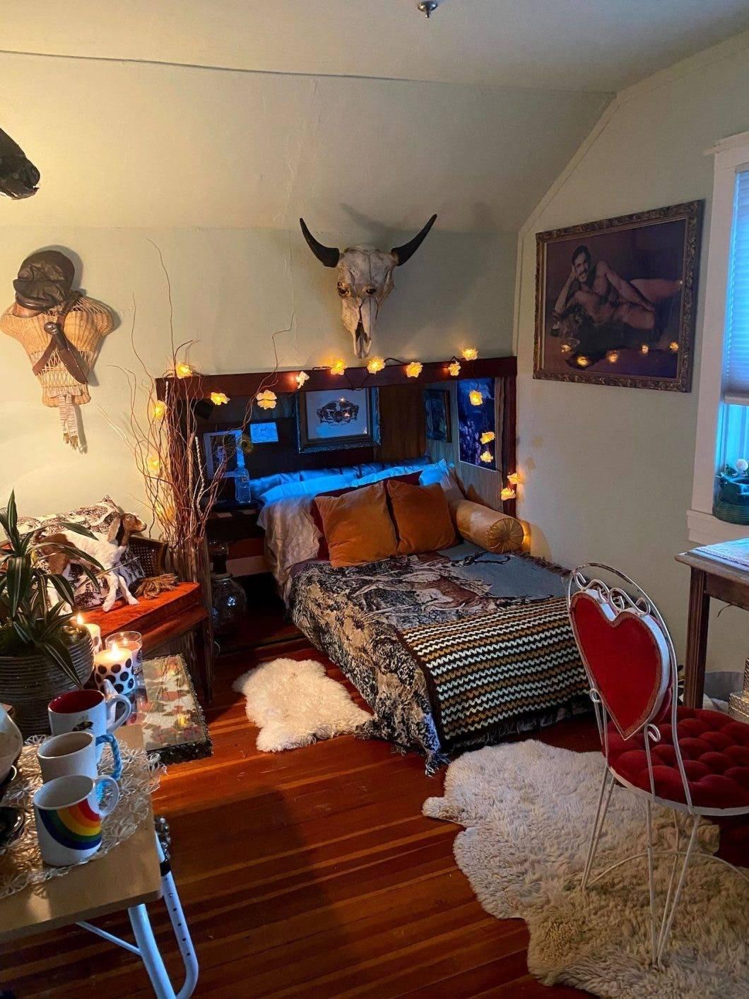 Bohemian tiny living quarters