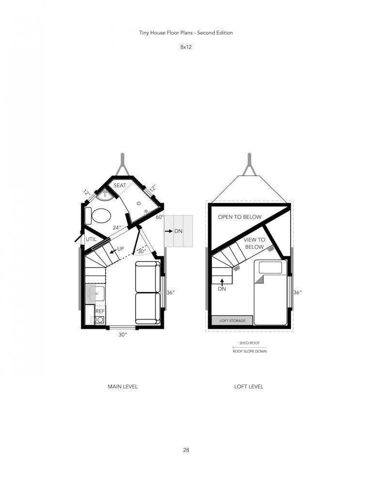 Tiny House 8x12 plans