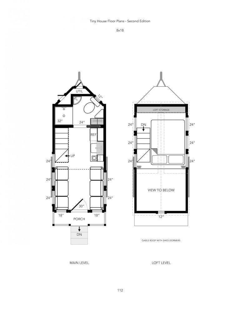 Tiny House Floor Plans 18 foot