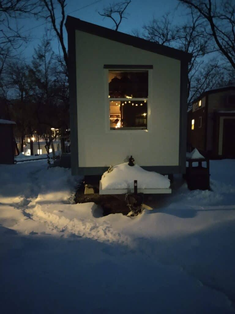 Winter in a tiny house