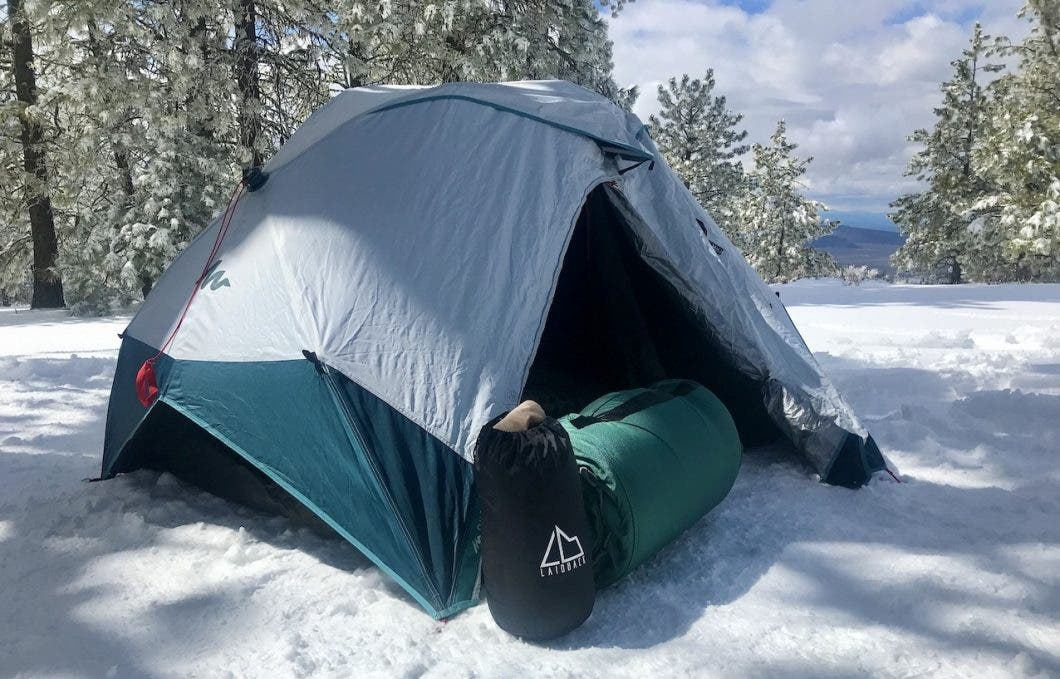 Laidback Pad and Pillow and tent