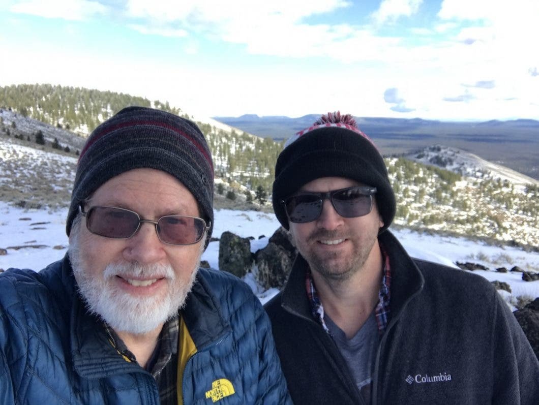 Ted and myself on Pine Mountain