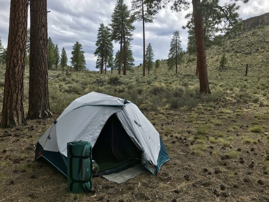 Laidback pad and tent