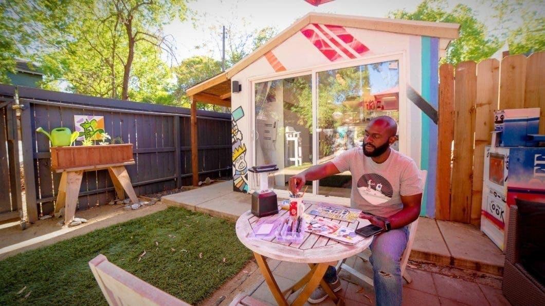 Artist Converts Garage into tiny house