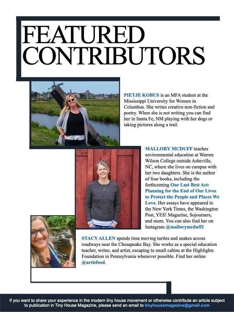 Tiny House Magazine contributors