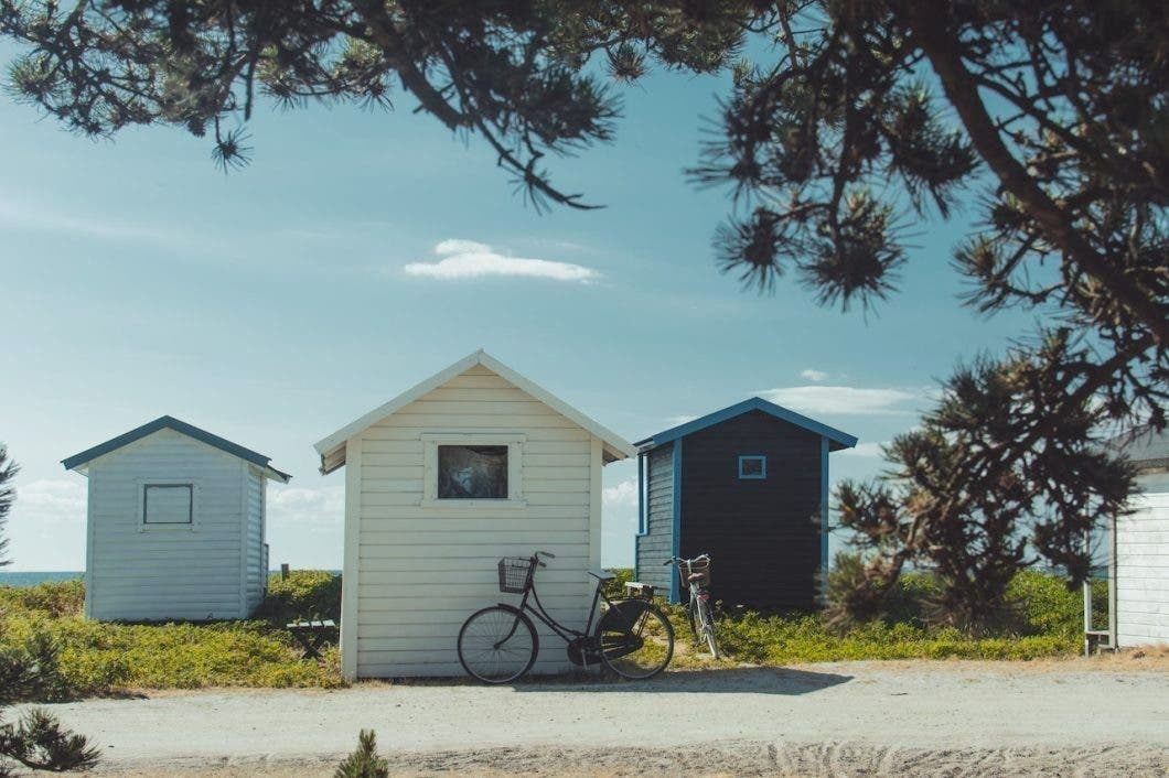 tiny cabins by the sea