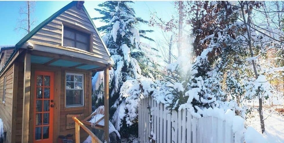 Winter at the tiny house
