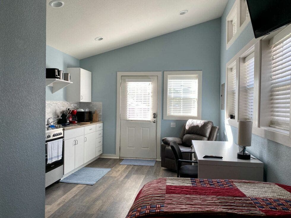 Living area of tiny house