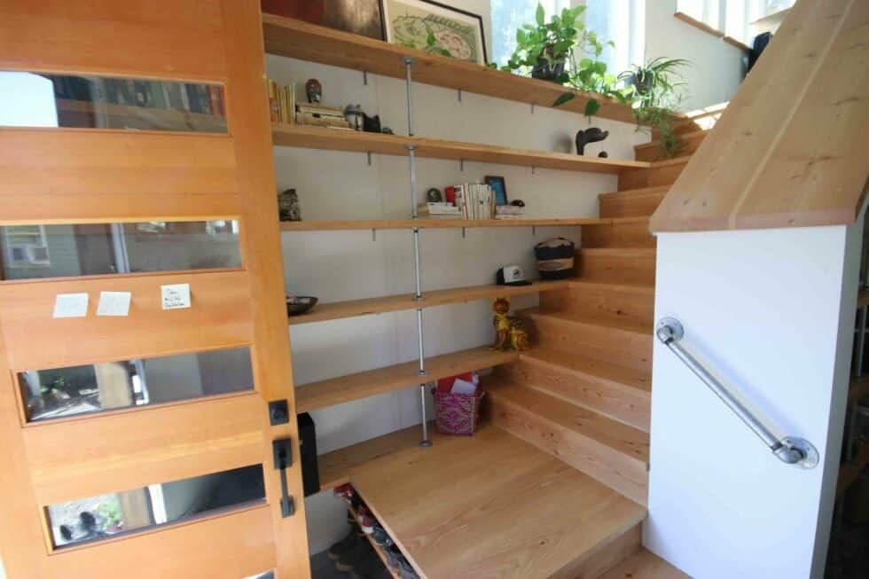 bookcase in the stairs