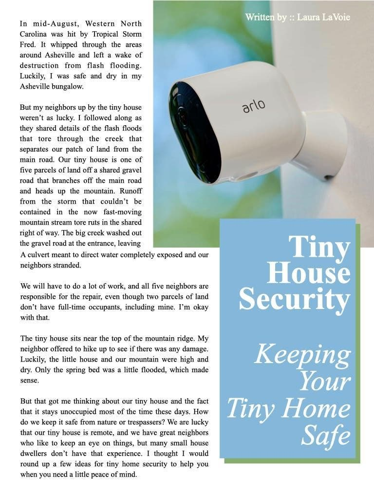 Tiny House Security