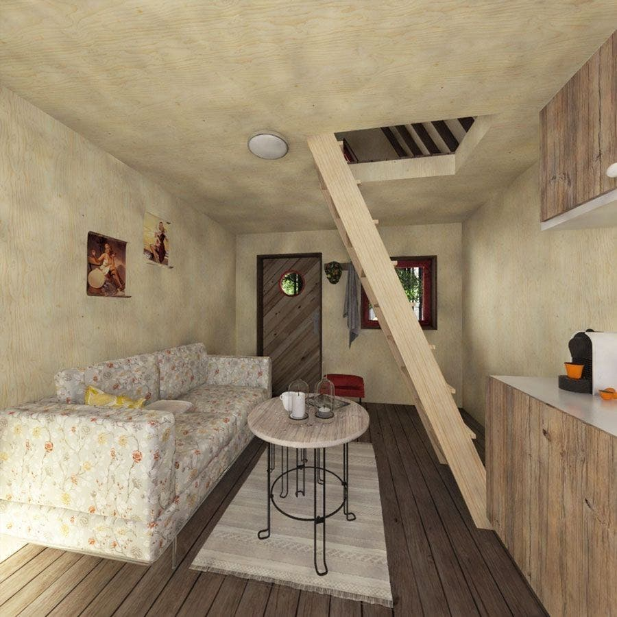 Living area chalet