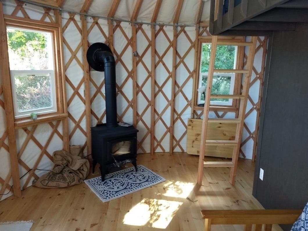 stove in yurt